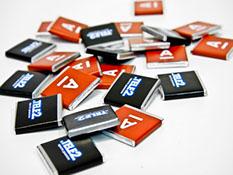 Печать логотипа на шоколад в Астра тлт
